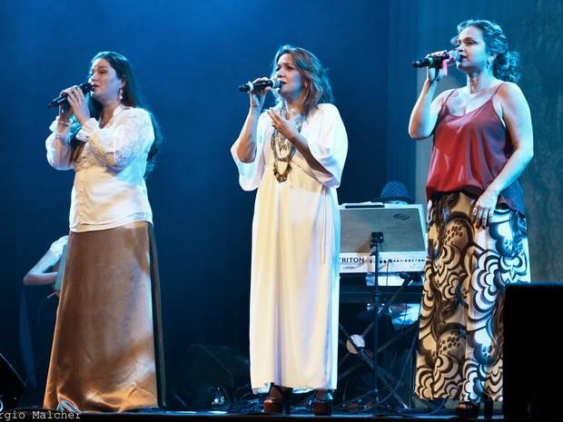 """Marianne Lima, Andréia Pinheiro e Lucinnha Bastos estão juntas em mais uma edição do show """"Canções em Romaria"""" (Foto: Divulgação)"""