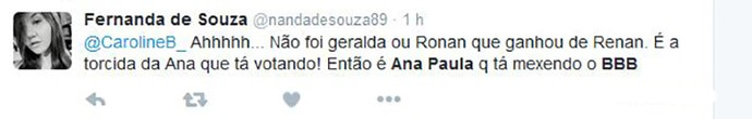 tweet ana paula (Foto: Reprodução)