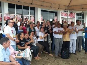 Servidores em greve aguardam para quarta (26) negociação com o governo (Foto: Arquivo pessoal)