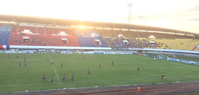União ABC e Corumbaense no estádio Morenão (Foto: Carol Lacerda/TV Morena)