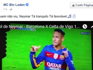 Bin Laden mostra dança de 'Tá tranquilo, tá favorável' de Neymar (Foto: Reprodução / Facebook do cantor)