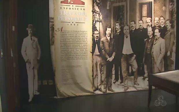 Espaço contaa história da Revolução Acreana. (Foto: Acre TV)