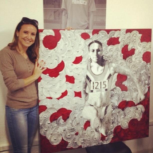 Maurren Maggi ganha obra de arte (Foto: Reprodução/Instagram)