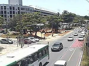 Retorno no bairro do Itaigara será fechado a partir desta terça-feira (25). Salvador. Bahia (Foto: Transalvador/ Divulgação)
