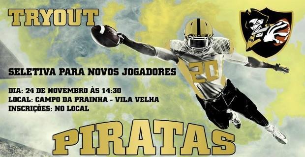 Piratas Futebol Americano - Flyer - Try out (Foto: Piratas Futebol Americano)