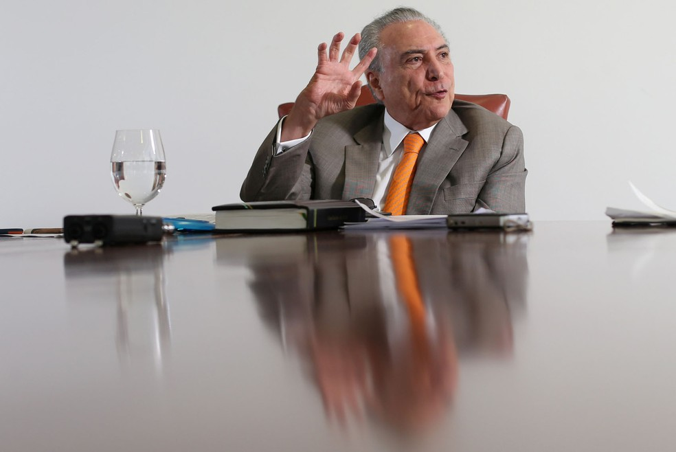 O presidente Michel Temer, durante entrevista à agência Reuters nesta semana, no Palácio do Planalto (Foto: Adriano Machado/Reuters)