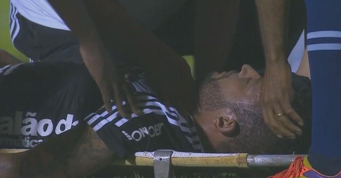 Fábio Santos, Vilhena x Ponte Preta (Foto: Reprodução SporTV)