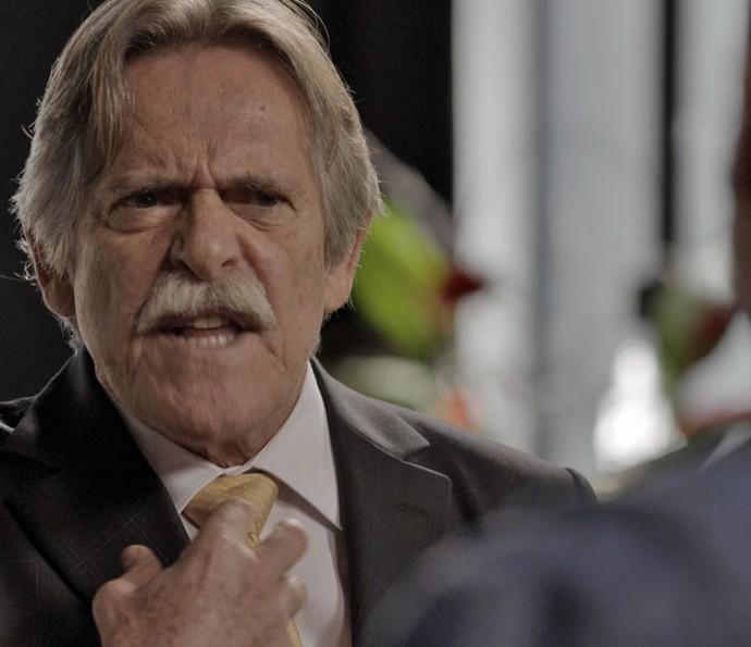 Gibson fala sobre desconfiança de Dante (Foto: TV Globo)