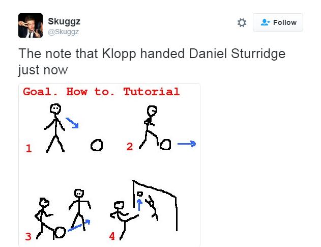 """BLOG: """"Toca para o Coutinho""""? Internautas tiram sarro de recado de Klopp para Sturridge"""