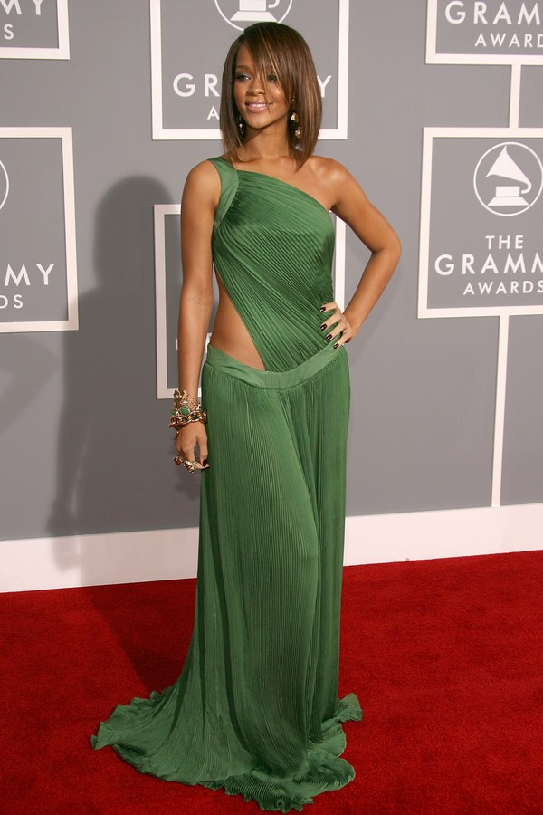Rihanna no Grammy de 2007 (Foto: Getty Images)