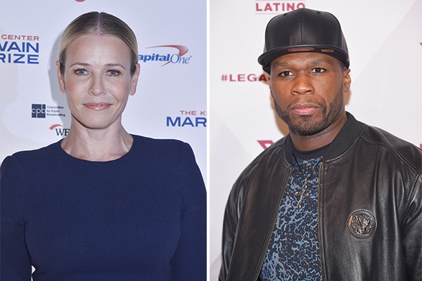 Chelsea Handler e 50 Cent (Foto: Getty Images)