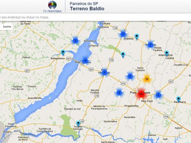 Mapa Parceiros do SP atual 09 12 (Foto: Reprodução)