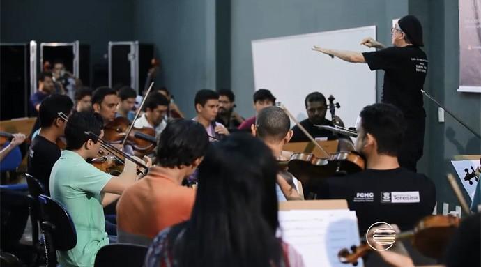 Orquestra Sinfônica apresenta o hino do River erudito (Foto: Reprodução/Rede Clube)