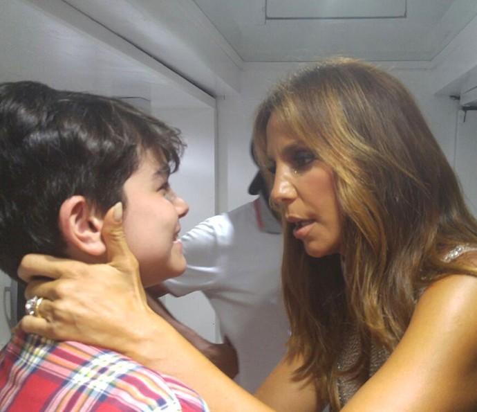 Ivete Sangalo dá conselhos de sucesso para Lucas Marques do The Voice Kids (Foto: Arquivo Pessoal)