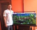 """Apaixonado por água, Ítalo Manzine é aquarista na folga: """"Sensação de paz"""""""