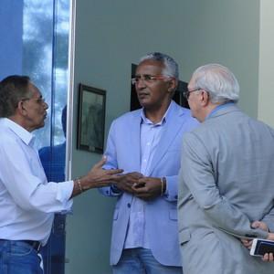 Benecy Queiroz, Isaías Tinoco e Gilvan de Pinho Tavares Cruzeiro (Foto: Rafael Araújo)
