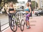 Ju Isen e Indianara Carvalho testam nova ciclovia da Avenida Paulista