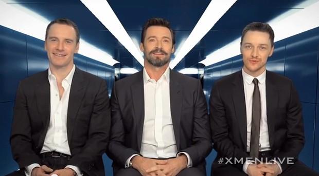 Em vídeo, Michael Fassbender, Hugh Jackman e James McAvoy anunciam turnê para divulgar 'X-Men: Dias de um futuro esquecido' (Foto: Divulgação)
