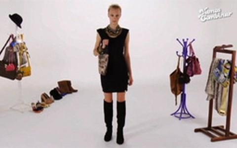 Vestido preto pode ser usado em dez looks diferentes