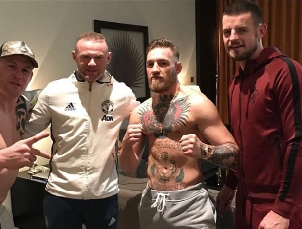 BLOG: Wayne Rooney, astro do Machester United, faz foto com Conor McGregor