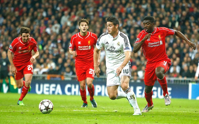 james rodriguez, Real Madrid x Liverpool (Foto: AP)