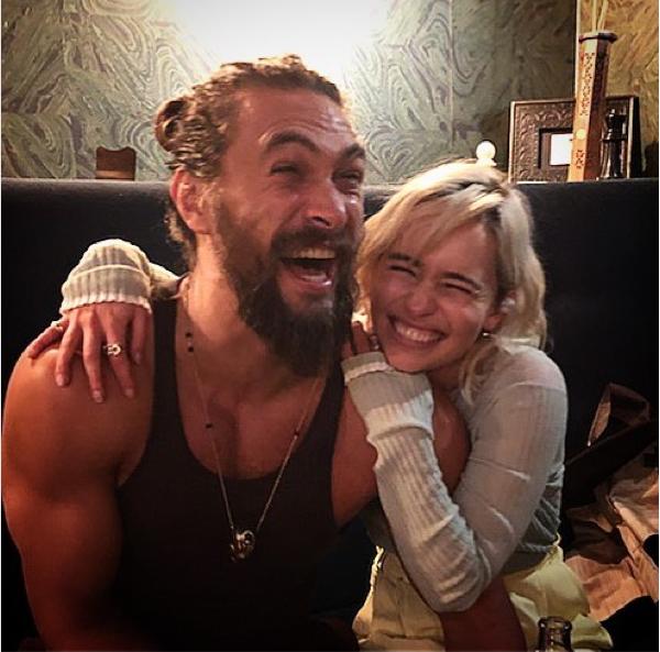 Jason Momoa e Emilia Clarke  (Foto: Instagram)