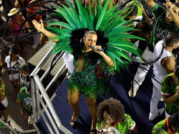 Ivete Sangalo no ensaio técnico da Grande Rio, Rio de Janeiro (Foto:  Delmiro Junior / Raw Image / Estadão Conteúdo)