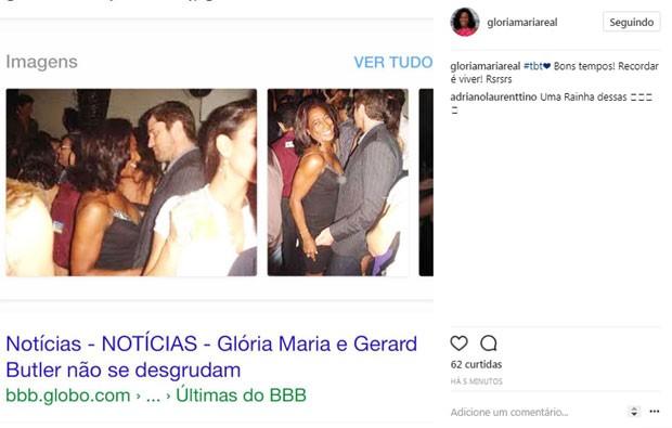 Gloria Maria e Gerard Butler (Foto: Reprodução / Instagram)