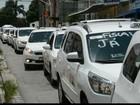 Taxistas de João Pessoa realizam ato contra táxis de outras cidades