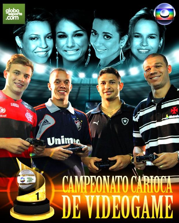 campeonado videogame Carioca jogadores (Foto:  Infografia / Globoesporte.com)