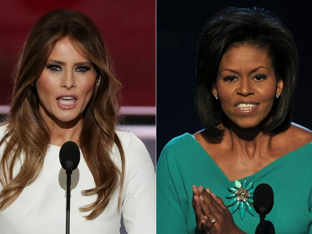 19ac0f3eac05f G1 - Mulher de Trump é acusada de plagiar discurso de Michelle Obama ...