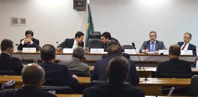 Audiência pública no Congresso com representantes da CBF (Foto: Ana Volpe / Agência Senado)