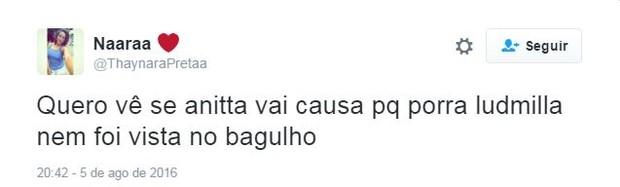 Internautas comentam sobre Ludmilla na Olimpíada (Foto: Twitter / Reprodução)