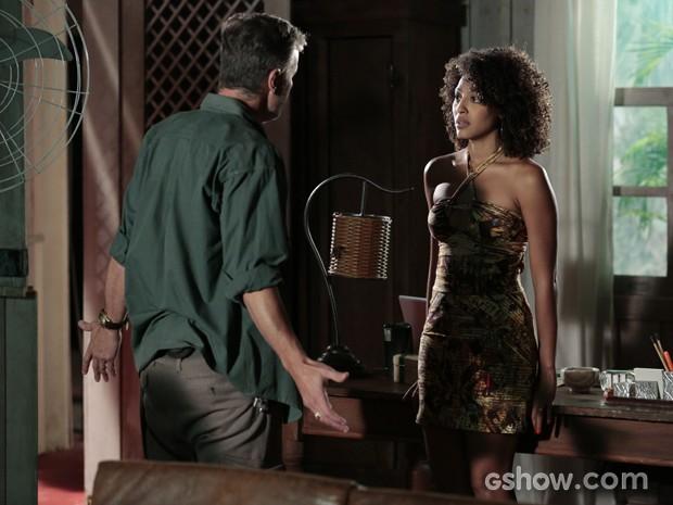 Keila quer se separar do mandachuva (Foto: Felipe Monteiro/TV Globo)