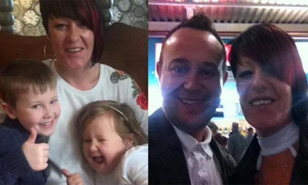 Com os filhos e o marido, Paul (Foto: Reprodução/Facebook)
