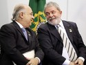Presidente Lula e o ministro da Secretaria Especial de Direitos Humanos, Paulo Vannuchi, durante cerimnia de comemorao dos 20 anos do Estatuto da Criana e do Adolescente