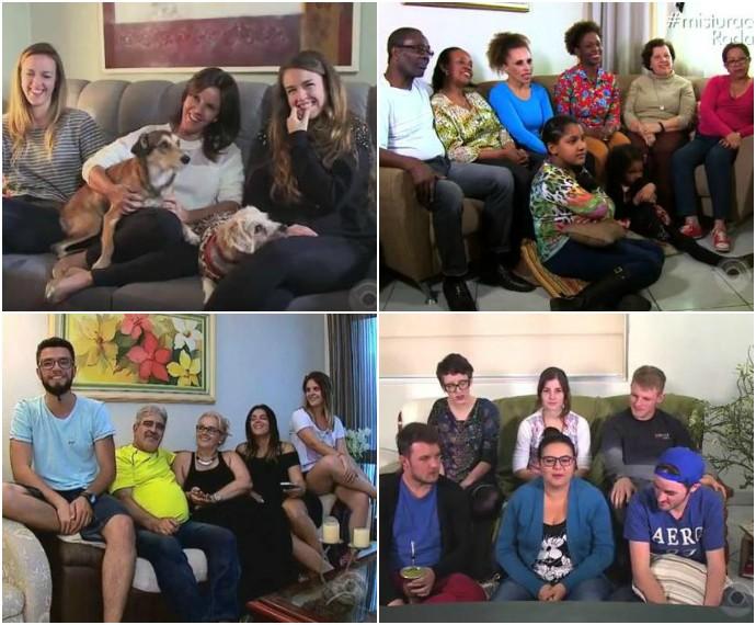 Família Mistura com Rodaika montagem familias (Foto: Montagem sobre fotos de Reprodução/RBS TV)