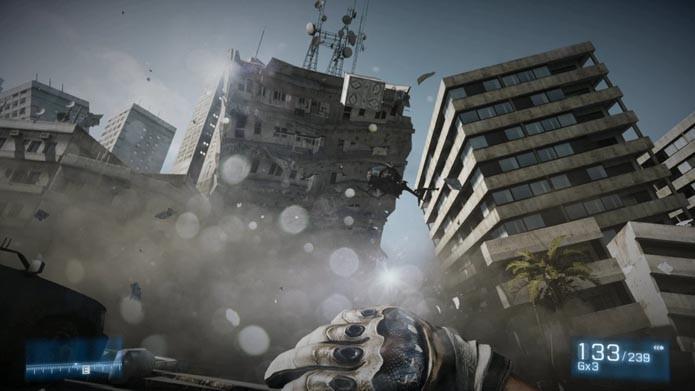 Grande destruição nos cenários era um dos trunfos de BF3 (Foto: Reprodução/Youtube)