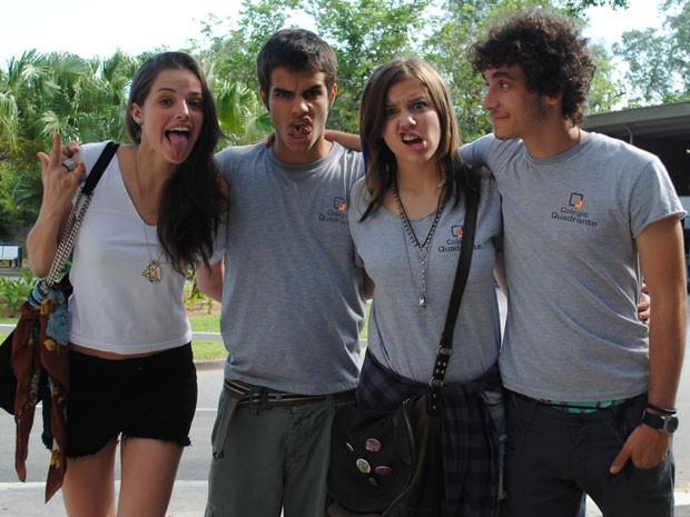 É JuGil, JuDinho, GiLia e LiDinho! Qual é o seu preferido? (Foto: Malhação / Tv Globo)
