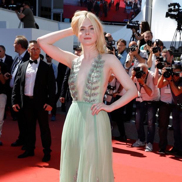 Elle Fanning em Cannes (Foto: Getty Images)