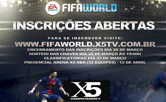 Fifa World terá campeonato realizado pela X5 Computadores (Foto: Divulgação)