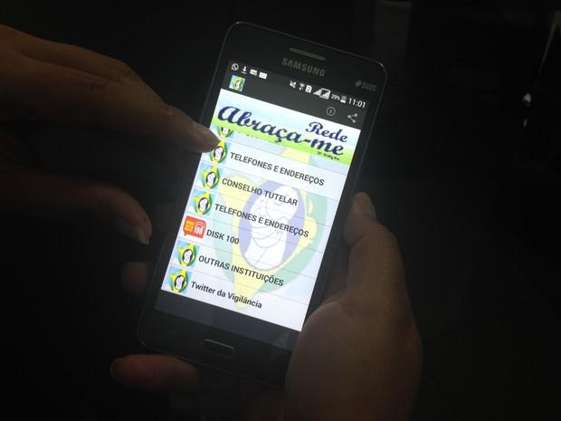 Aplicativo apresenta informações sobre locais de notificação (Foto: John Pacheco/G1)