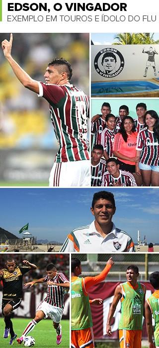 Mosaico Edson Fluminense (Foto: Infoesporte)