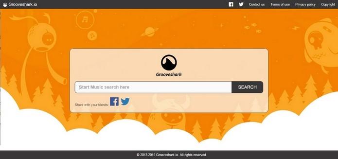 Rival do Spotify, Grooveshark está de volta em novo endereço(Foto: Reprodução/Grooveshark.io)