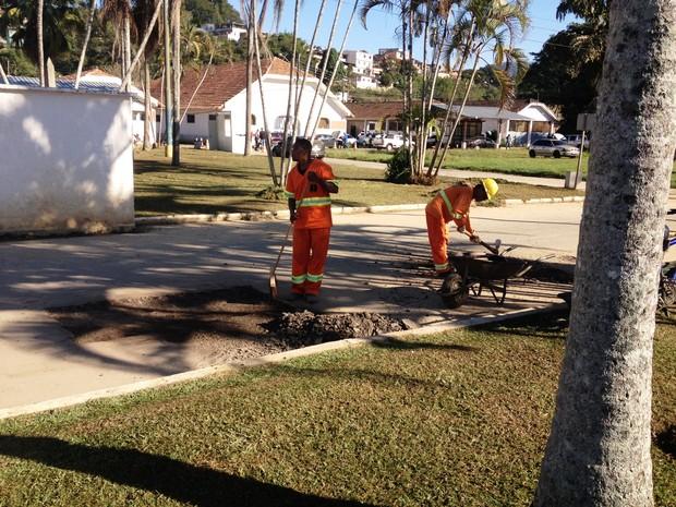 Melhorias no asfalto em Cordeiro (Foto: Divulgação)