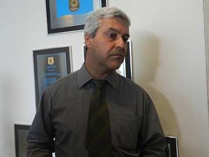 Delegado-chefe da PF de Uberlândia, Emerson Aquino (Foto: Caroline Aleixo/G1)