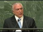 Discurso de Michel Temer abre Assembleia geral da ONU