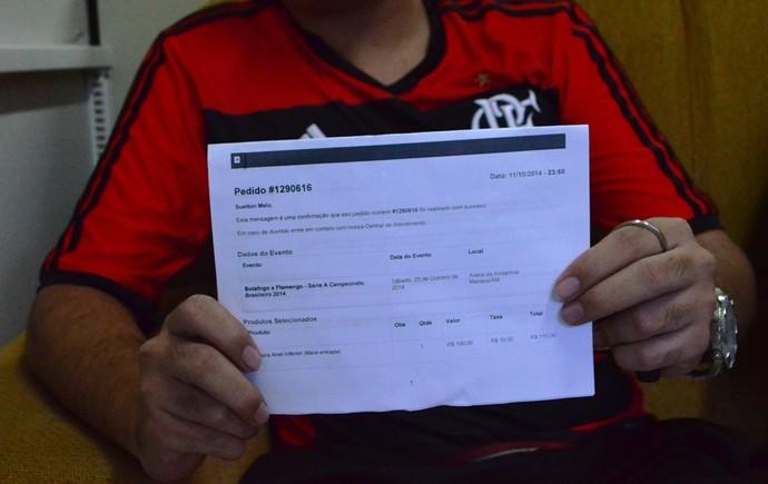 os torcedores compraram os ingressos pela internet (Foto: Herianne Cantanhede)