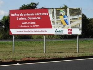 placa br-050 uberlandia, uberaba, araguari (Foto: MGO Rodovias/Divulgação)
