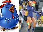 Look de Claudia Leitte na Copa é comparado a Galinha Pintadinha